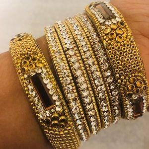 Gorgeous brand new bangle bracelet set